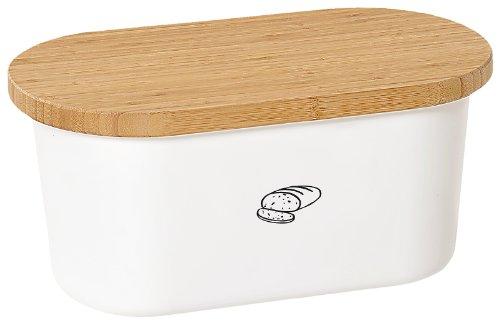 Kesper 18080 Brotbox Melamin Bambus, weiß