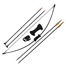 Sinoart Archery Bow and Arrow Set for Kids Children Youth Outdoor Sports Game Hunting Toy Gift Bow Kit Set with 4 Arrows 16 Lb