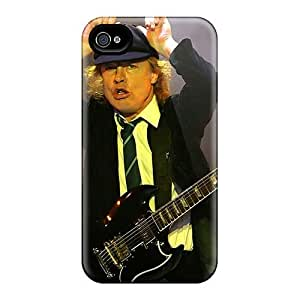 Excellent Hard Phone Cases For Iphone 4/4s With Custom Vivid Ac Dc Band Image AshleySimms