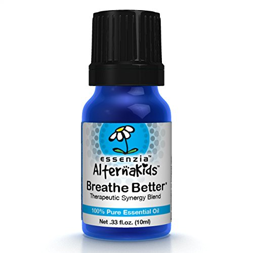 Breathe Better Essential Oil for Kids by AlternaKids - 100% Pure, Therapeutic Grade, Undiluted Aromatherapy Blend for Children | Allergy, Respiratory & Sinus Relief, Peppermint, Kid Safe (10ml bottle)
