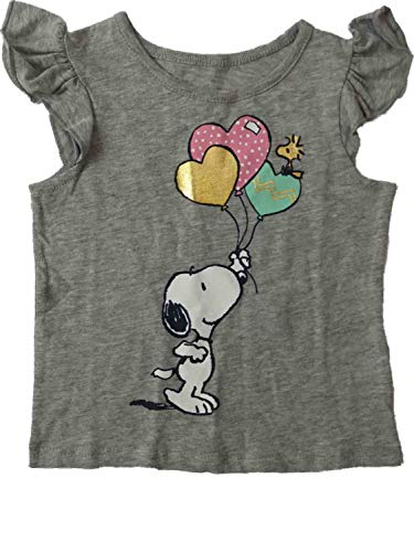 Price comparison product image Peanuts Infant & Toddler Girls Snoopy Woodhouse Heart Balloons Tee Shirt