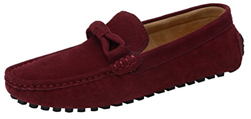 1988 New QYY Casual Shoes Mens Moccasins Loafers on Driving Leather Slip Smart Red Salabobo g1HxRn1