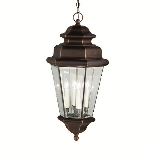 nah Estates 4LT Exterior Hanging Lantern, Olde Bronze Finish with Clear Beveled Glass by ()