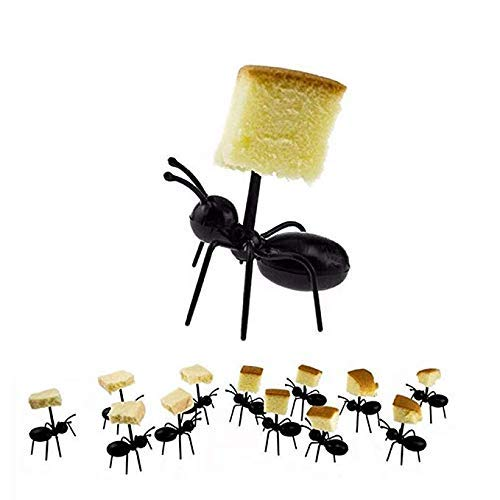 WallyE Fruit Picks in Ant Shape for Farm Birthday Party, Garden Picnic Party or BBQ, 24 PCS]()