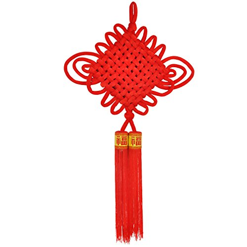 """KI Store Chinese Knot Tassel New Year Decoration 2018 Traditional Red Lucky Oriental Pendant Ornaments for Spring Festival, Lunar New Year 36.2"""" 92CM(Large)"""