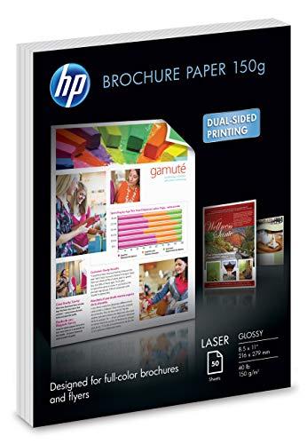 HP Brochure Paper | Glossy | 8.5x11 | 50 - Brochure Hp Glossy Paper