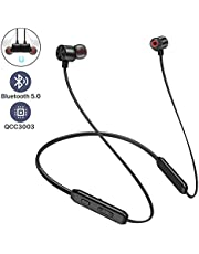 Bluetooth Headphones, Arespark Sports Wireless Bluetooth 5.0 Hi-Fi Stereo Deep Bass Earbuds IPX7 Waterproof 10 Hrs Playing Time CVC 8.0 Neckband Magnetic in-Ear Earphone