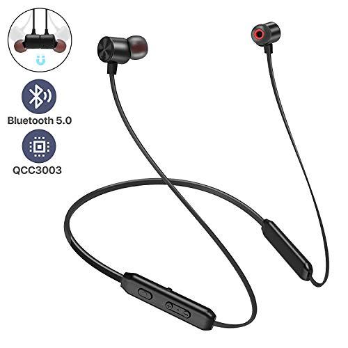 Bluetooth Headphones, Arespark Sports Wireless Bluetooth 5.0 Hi-Fi Stereo Deep Bass Earbuds IPX7 Waterproof 10 Hrs Playing Time CVC 8.0 Neckband Magnetic in-Ear Earphone