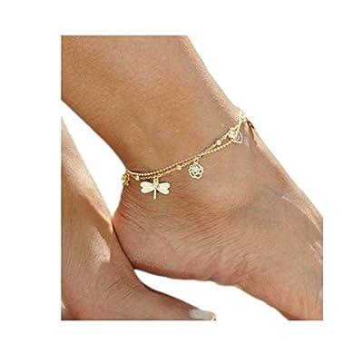 Cheap Gudukt Simple Anklet Bracelet Women Handmade Anklet Layer Love Infinite Beach Foot Chain Adjustable supplier