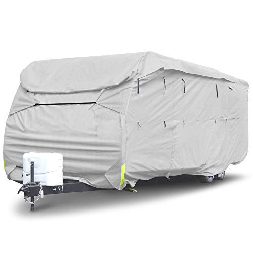"Budge RVRP-50 Premier Toy Hauler RV Cover Gray 252"" L x 105"" W x 116"" H Waterproof, Heavy Duty"