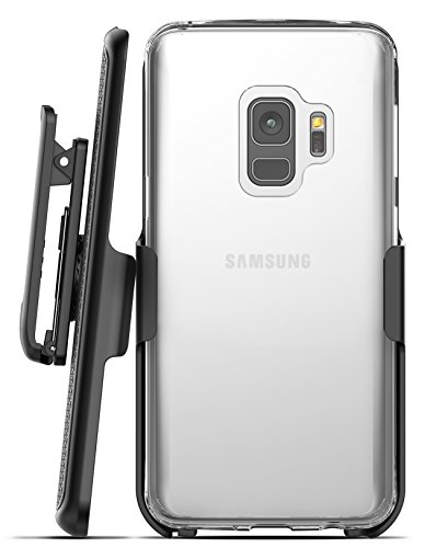 Galaxy S9 Clear Case With Holster, Encased Thin Transparent Back Grip Case for Samsung Galaxy S9 (2018 Release)