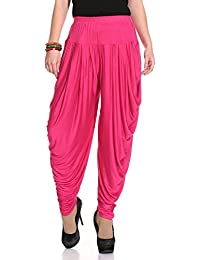 Relaxed Comfortable Viscose Dhoti Pants Yoga Fitness Activewear for Women Dance - Free Size.Many