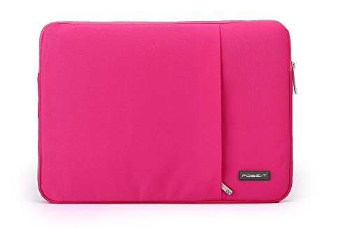 - Waterproof & Shockproof Laptop Tablet Notebook Carry Sleeve Case Bag Pouch Cover for Apple MacBook Touch Bar 13 15 A1706/A1708/A1707 (New Pro15 inch A1707, Hot Pink)