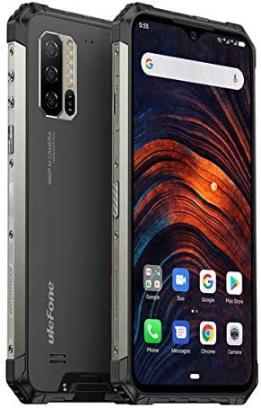 Ulefone Armor 7 (2020) Rugged Smartphone Unlocked, Android 10, IP68 Waterproof Cell Phones Helio P90 8GB+128GB, 48MP + 2MP + 2MP Triple Camera, 5500mAh QI Wireless Charge, 6.3″ FHD+, Global Bands, NFC
