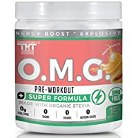 OMG Preworkout Drink for Men and Women with Electrolytes, Organic Caffeine and Organic...
