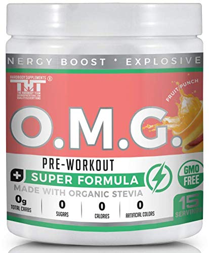 OMG Preworkout Drink for Men and Women with Electrolytes, Organic Caffeine and Organic Stevia| Scientifically Crafted Boost Energy, Stamina, Mental Clarity, Focus and Performance