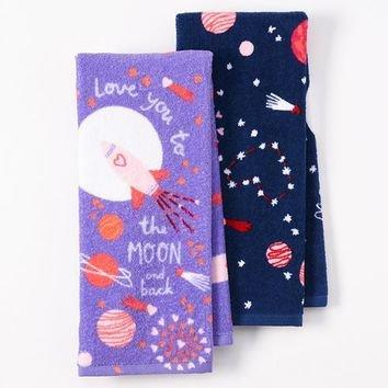 I Love You a la luna y parte posterior – feliz día de San Valentín algodón