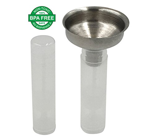 Lip Balm Stick Tubes Kit - Lip Balm Empty Containers BPA Free & Easy Pour Stainless Steel Small Funnel - (100 Tubes, Clear) for Easy Tube Filling ()