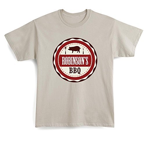 WHATONEARTH Unisex-Adult Personalized Custom Name BBQ Griller T-Shirt - - Bbq Names Brand Sauce