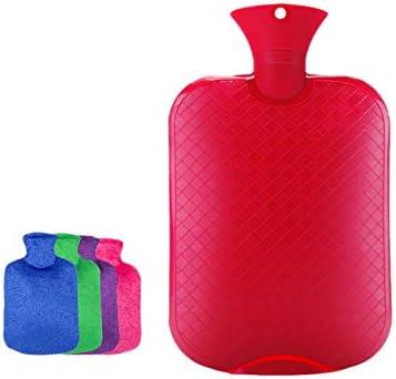 RSHDAI Wärmflasche Mit Superweichem Luxusbezug | 3 Liter Große Heißwasser-Tasche | Hitze Oder Kälte Therapie | Zufällige Farbabdeckung