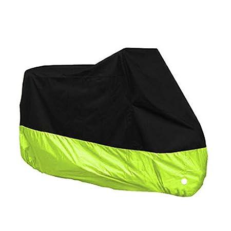 Contre la Pluie Doitsa 1pcs Housse de Protection B/âche de Moto en Polyester 190T avec Sac de Rangement Vert Clair et Noir L: 220 * 95 * 110cm Anti-UV Antifouling