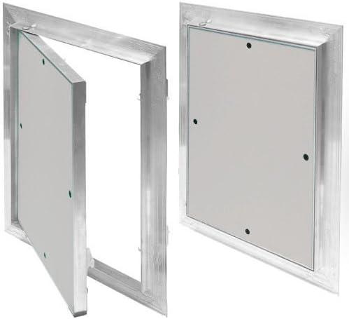 Tapa para revisión 400 x 400 mm Marco de Aluminio 12,5 mm yeso pladur aluminio: Amazon.es: Bricolaje y herramientas