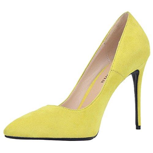 Femme De À Chaussures Jaune Sexy Pompes Mariage Zaproma Hauts Talons 6pwxRq0fA