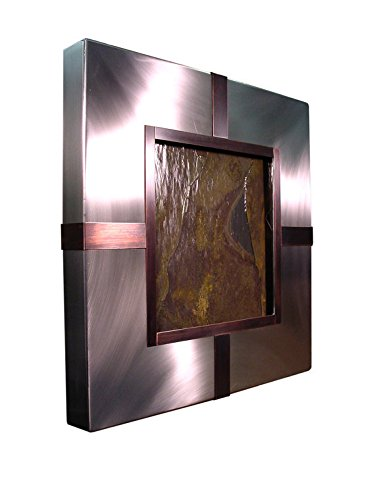 Patina Streams Wall Fountain - Stainless Steel