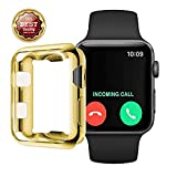 Compatible with Apple Watch Series,Silicone Soft Slim Full-Around Protective iWatch 4 Series Case Cover (5, 40mm)