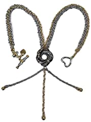 Inspired by the Necklace that Bond Girl Vesper Lynd (played by Eva Green) wore in Casino Royale! The Algerian Love Knot is intriguing and slightly mysterious. Worn on the neck with a triple strand chain which drops down from the knot, it is e...
