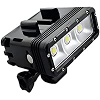 Suptig High Power Dimmable Dual Battery Waterproof LED Video Light Fill Night Light Diving Underwater Light for Gopro Hero5/5S/4/4S/3+/3/2 SJCAM Sj4000/Sj5000/Sj6000/Sj7000 Xiaoyi