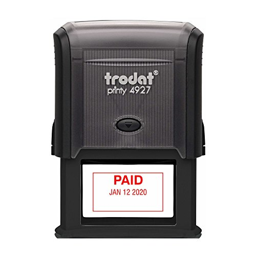 TRODAT 4729P1-R - Self-Inking Paid (Straight Text) Date S...