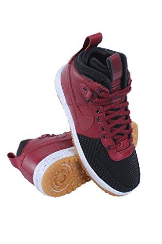 Nike LUNAR FORCE 1 DUCKBOOT mens boots 805899-002_7.5 - BLACK/WHITE/GUM LIGHT BROWN/TEAM RED ()