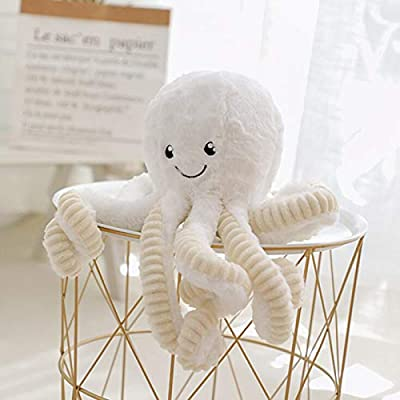 Allenhope Simulation Octopus Plush Stuffed Toy Pillow Cute Animal Doll Children Gifts 15.7 inches White: Office Products