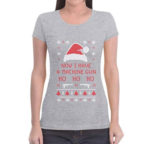Slim Ugly Maglietta Da Gun A Have Grigio Donna Sweater Natale Babbo I Fit wgBxvqZX4T
