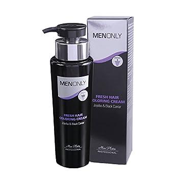 Mon Platin Men Only Fresh Hair Coloring Cream Jojoba & Black Caviar, 8.5  fl. oz 250ml