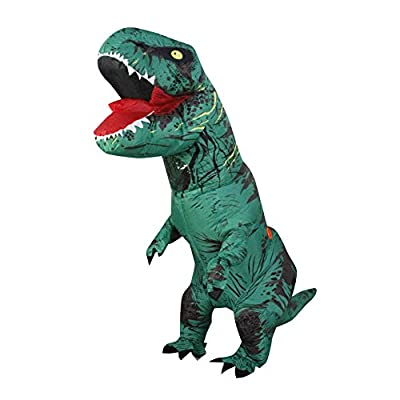SEASONBLOW Valentine Couple Adult Mens Womens Inflatable Halloween T-Rex Dinosaur Fancy Suit Cosplay Costume