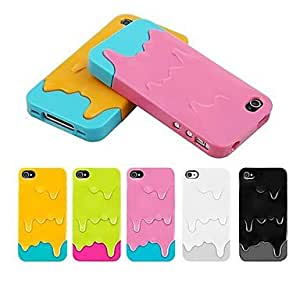 PEACH 3D Separable Ice Cream Pattern PC Hard Case for iPhone4/4s(Assorted Colors) , Yellow