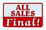 1 Pcs Greatest Popular All Sales Final Sign Retail Cards Indoor Declare Store Message Size 7