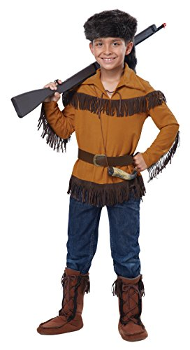 California Costumes Frontier Boy/Davy Crockett Costume, Medium, One -