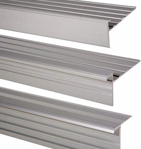 Trepsa - Perfil para cantos de escalera (aluminio anodizado): Amazon.es: Bricolaje y herramientas