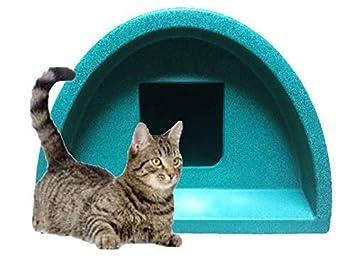 Acogedoras jaulas - entrada cuadrada casa de gato en verde: Amazon.es: Productos para mascotas