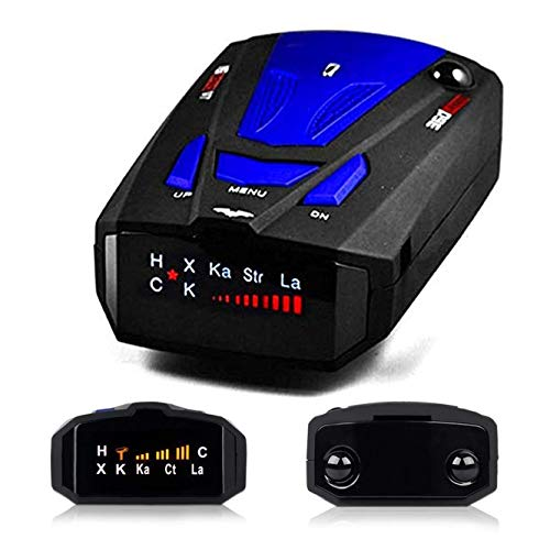 Radar Detector, City/Highway Mode 360 Degree Detection Radar Detectors with LED Display for Cars, Voice Alert and Car Speed Alarm System (FCC Approved) (Best Undetectable Radar Detector)
