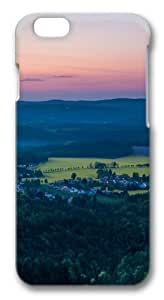 Forest hinterland Custom iphone 4/4s inch Case Cover Polycarbonate 3D