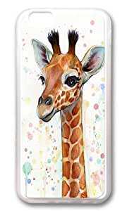 Apple Iphone 6 Case,Muyushiyuan Cute Baby Giraffe Watercolor Painting Cute Animals Soft Case Protective Shell Cell Phone Cover For Apple Iphone 6 (4.7 Inch) - TPU Transparent