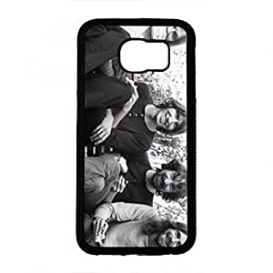 Retro Music Team Pink Floyd Phone Case Cover For Samsung Galaxy S6 Rainbow Black Back