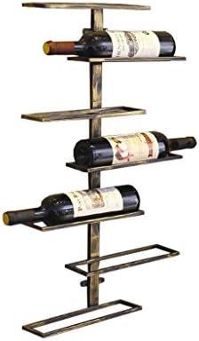 AZHom Racks de Vino de Pared, Porta Botellas de Vino Colgantes - Tiene Capacidad para 7 Botellas de Vino Espejo (Color : A)