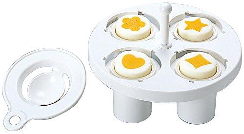 Bentousa Decorative Hard Boiled Egg Yolk Mold 4 Shapes