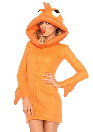 Leg Avenue Women's Cozy Goldfish Costume, Orange,