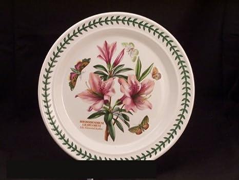 Portmeirion Botanic Garden Dinner Plate(s) - Lily Flowered Azalea & Amazon.com | Portmeirion Botanic Garden Dinner Plate(s) - Lily ...